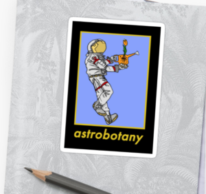 redbubble astrobotany the astrobotanist sticker