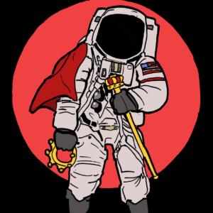 astronautkingsticker